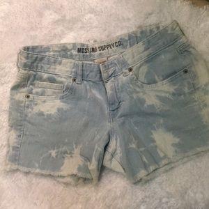 Bleach tie dye shorts